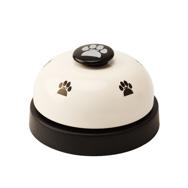 Pet Toy Training Called Dinner Small Bell Footprint Ring Dog Toys For Teddy Puppy Pet Call 1
