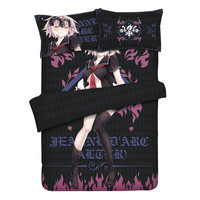 Fate/Grand order Jeanne d'Arc Bed Cover Set Duvet Cover Set Home Textiles Full Queen King Size Bed Sheet Set Anime Bed Covers