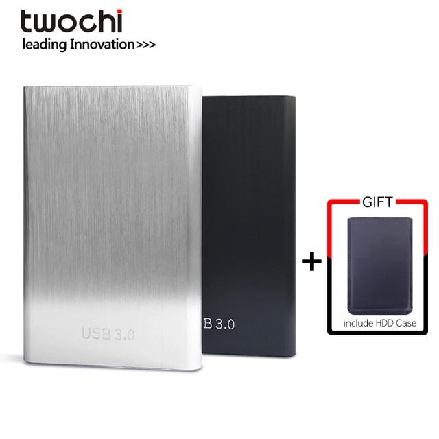 Twochi HDD 2.5 ''Ổ Đĩa Cứng Gắn Ngoài USB3.0 1 TB 750 GB 500 GB 320 GB 250 GB 160 GB 120 GB 80 GB Lưu Trữ Di Động Đĩa Cứng đối với PC/Mac
