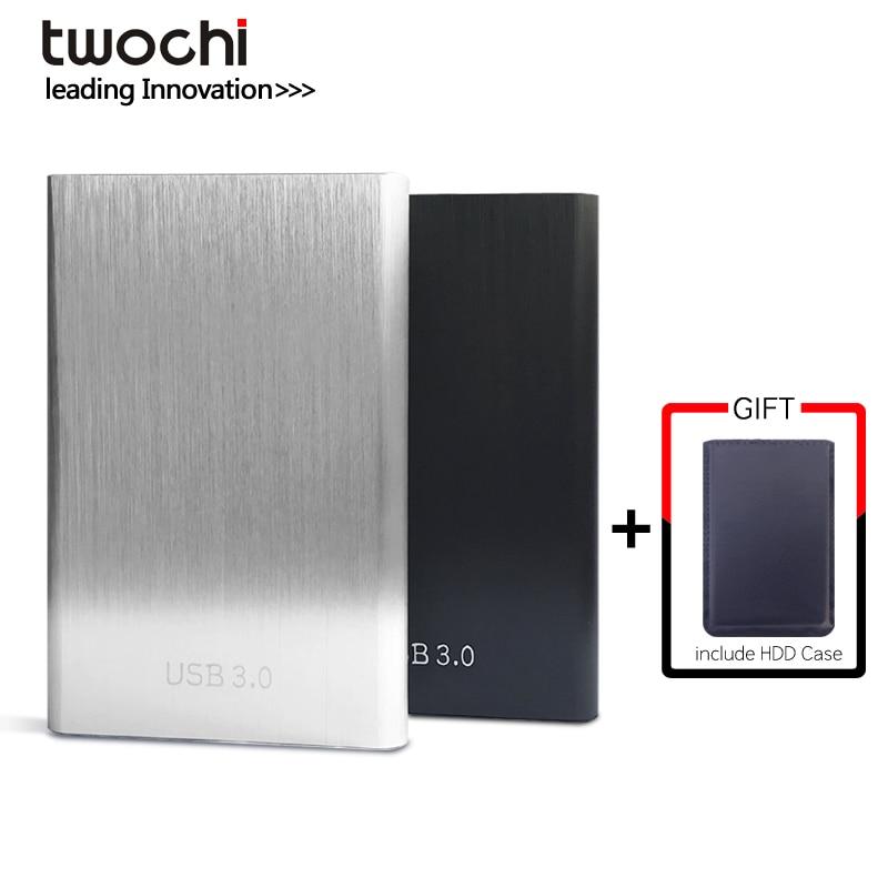 Twochi HDD 2,5 disco duro externo USB3.0 1 TB 750 GB 500 GB 320 GB 250 GB 160 GB 120 GB 80 GB de almacenamiento de disco duro portátil para PC/Mac
