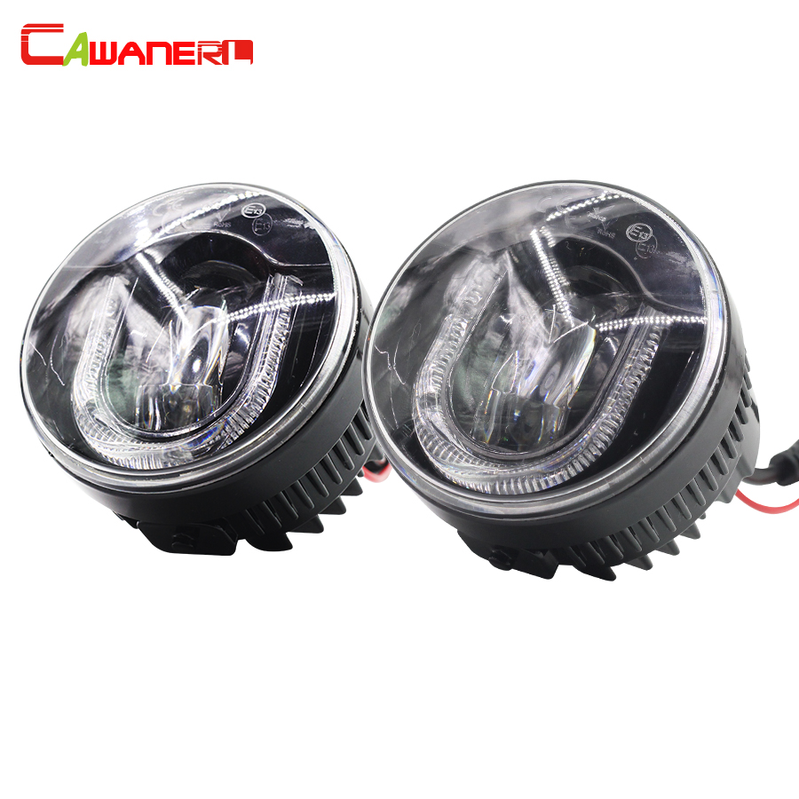 Cawanerl For Suzuki SX4 Swift Grand Vitara Alto Jimny FJ 1 Pair Car LED Fog Light DRL Daytime Running Lamp 12V High Power