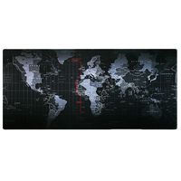 Old World Map Laptop Gaming Computer Mousepad Locking Edge Mouse Pad Mat For CSGO Dota2 Mouse