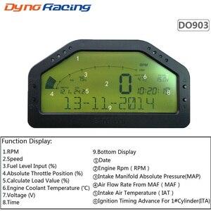 9 в 1 дисплей гонки Bluetooth Полный сенсор комплект приборной панели ЖК-экран ралли калибровочный Тахометр DO903