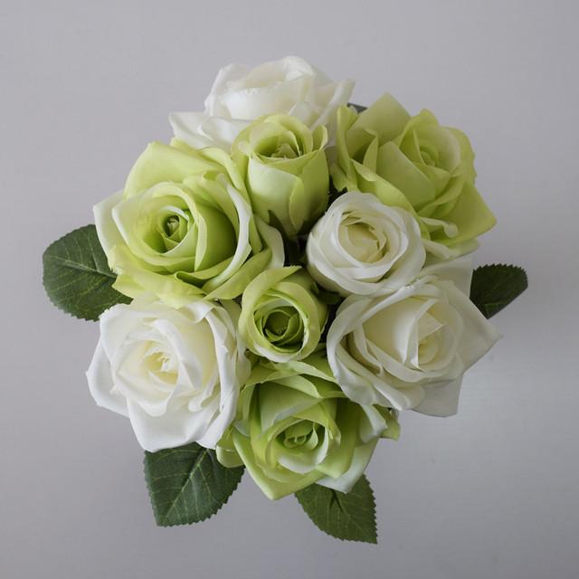 Envío Libre Por Encargo de Seda Ramo De Flores Broche Ramo De Mariage Buque De Casamento Ramos Flores de La Boda Ramo de Novia