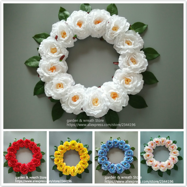 home & wedding front door & wall wreaths party birthday decoration ...