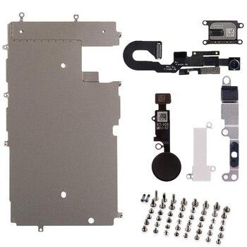 2b6e64e72ec 1 piezas de reparación del sistema completo para iphone 6 pantalla LCD  placa de Metal piezas del altavoz del oído de la cámara delantera botón de  inicio ...