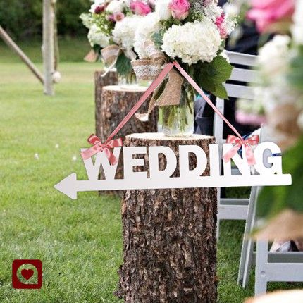 2016 Creative Acrylic Letter Hanging Wedding Letters Wood Signpost Arrow Road Lead For Ruatic Decorations In Party Direction Signs From