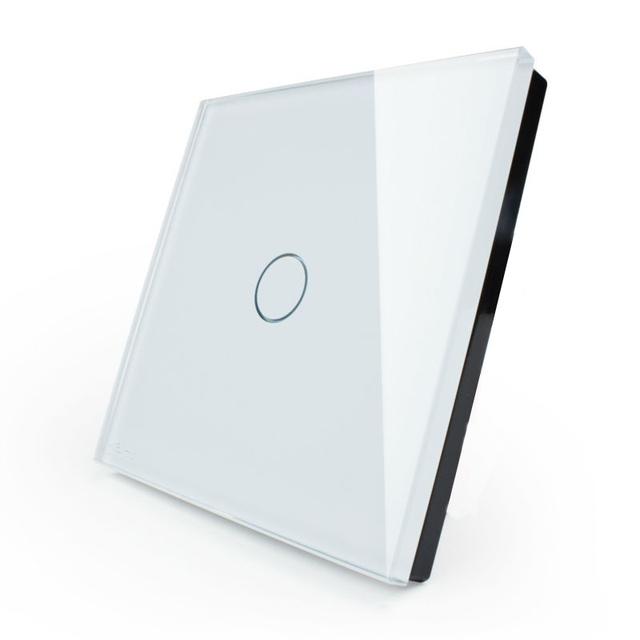 Hot sale EU Standard Touch Switch 1 Gang 1 Way,Wall Light Touch Screen Switch,Crystal Glass Switch Panel livolo