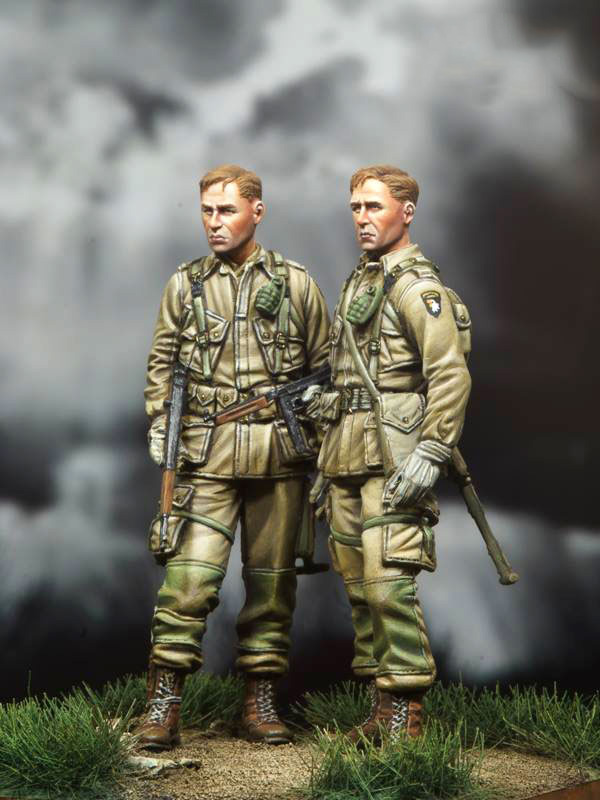 1/35  US Paratrooper Soldier   Toy Resin Model Miniature Kit Unassembly Unpainted