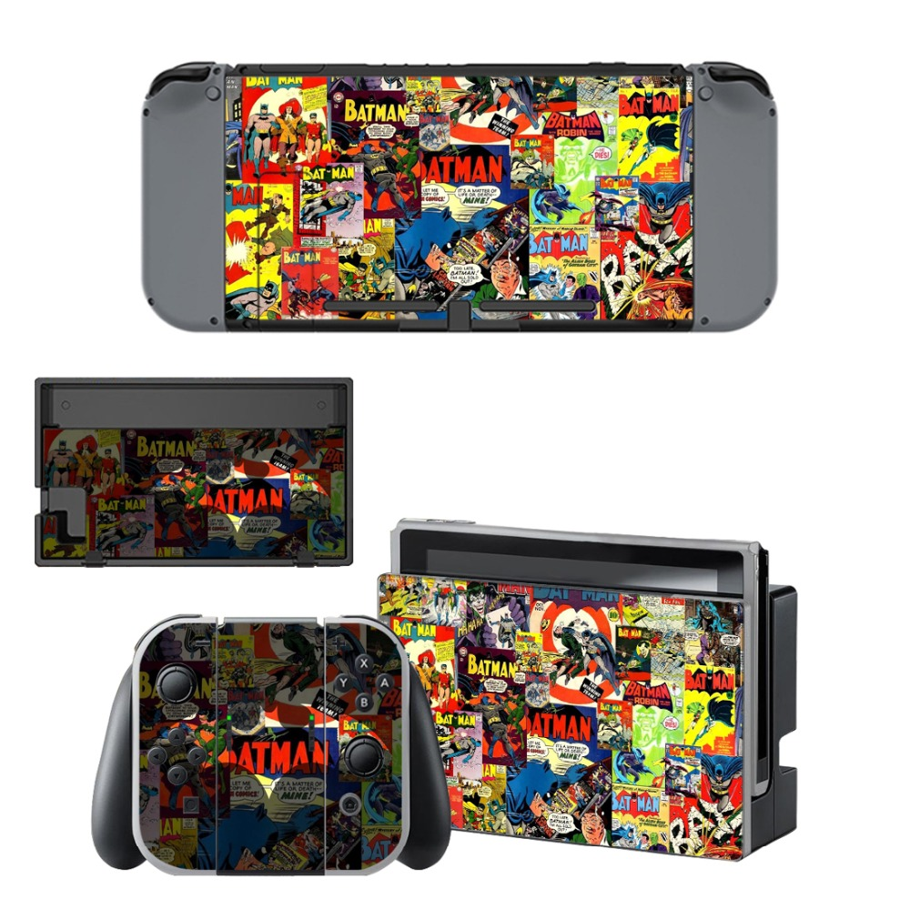Skin-Protector-Sticker Decal Switch Joker Nintendo Vinyl Batman Console Controller And title=