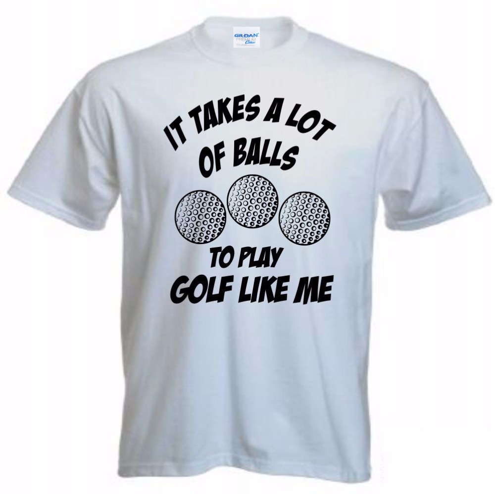 100% Cotton T-Shirt 2018 Fashion Men It Takes A Lot of Balls Funny Golfing Golfer Fan T Shirt Gift Idea Short Sleeve Tee Shirts