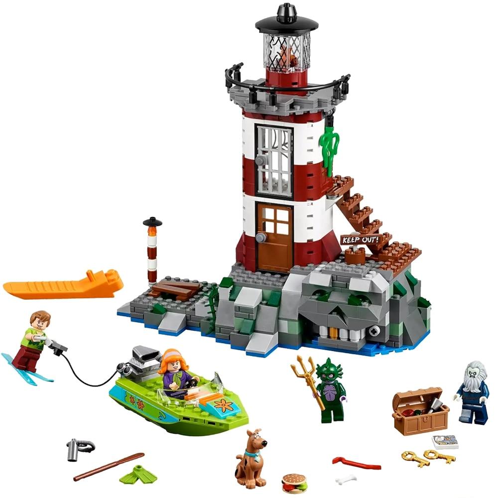 Fit Legoness 75903 Scooby Doo Haunted Lighthouse Set Animal Dog Mini Figure Bela 10431 Building Blocks