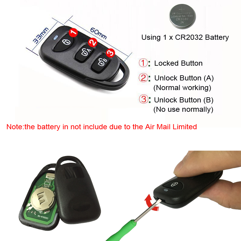 RAYKUBE R-RM1 2pcs/lot Wireless Remote Control Keys Only Work With Our Lock R-W39