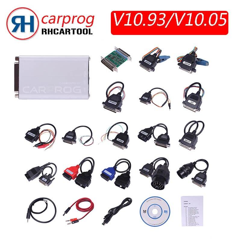 Carprog V10.05 10.93 v8.21 ECU Chip Tunning for car radios,odometer, dashboards, immobilizers repair including advanced function