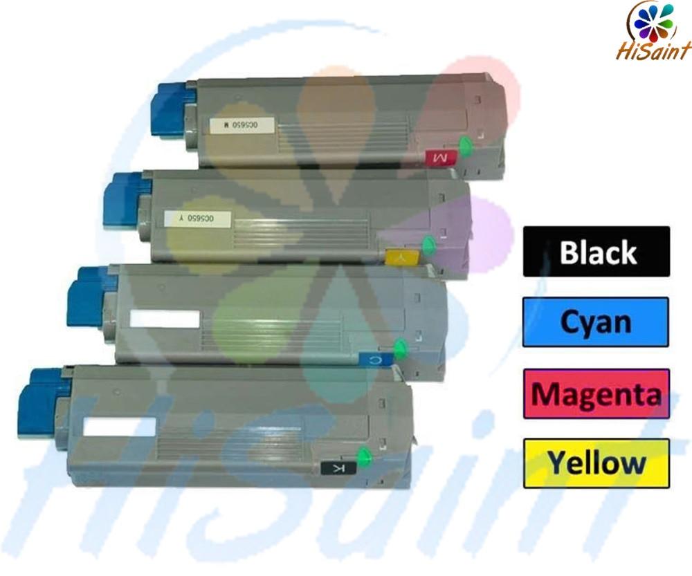 2016 New [Hisaint Toner] 4pk Toner Cartridge FOR OKI Okidata C5500n C5650 C5900MFP c29S ZY3033Q 30UZ SET Free shipping