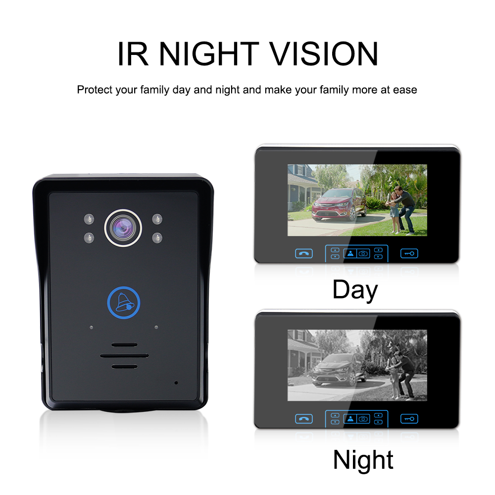 7 inch wireless Video Door Phone Intercom lcd Digital Doorbell door phone camera Wireless Waterproof Intercom Monitor Doorbell
