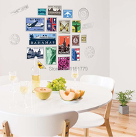 Free Shipping JM7276 Stamps Wall Stickers For Kids Rooms Home Decor DIY Adesivo De Parede Beat