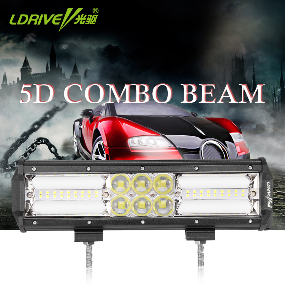 LDRIVE 11 210W LED Combo Light Bar Off Road Driving Fog Lights For UTB Jeep ATV UTV SUV Truck Pickup Boat Motorcycle Headlight 240w led light bar 13 5inch combo beam led bar driving lights 5d lens reflector led off road lights 4x4 suv truck boat utv atv