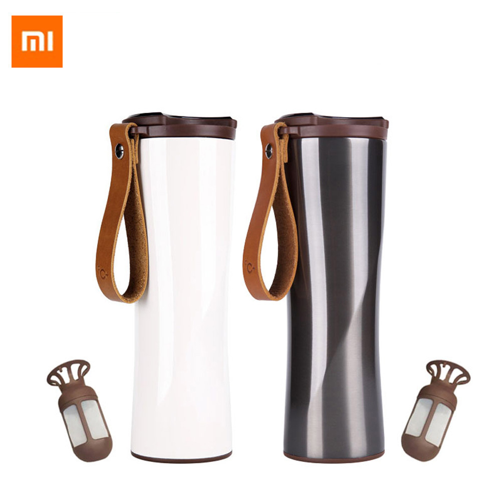 Xiaomi Coffee Tumbler Thermo Jug Moka Smart Cup OLED Touch Temperature Display 430ml Portable Stainless Steel