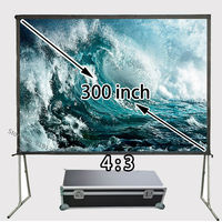 Cheap Price 300inch 4:3 Front Projection Screen Floor Stand Big Screens For Movie Show Display
