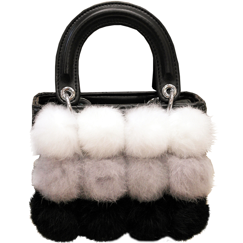 100% Rabbit Fur Handbags 2017 Winter Shoulder Bag Real Fur Handbag Women Messenger Bag Lovely Bunny Shoulder Bag Tote