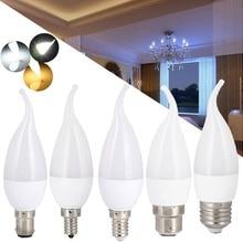 에너지 절약 E14 E27 B22 E12 B15 3W Led 촛불 전구 Velas Led 램프 Decorativas 홈 조명 교체 30W 할로겐 램프