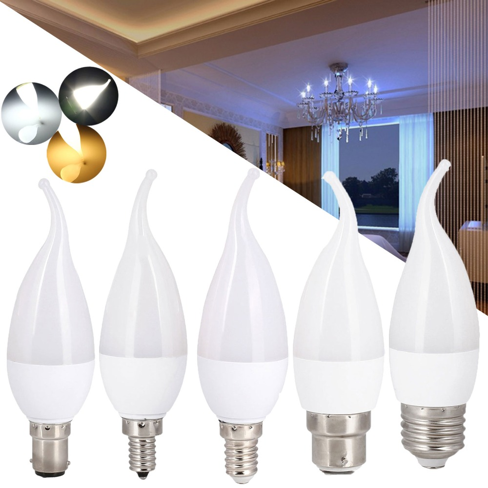 Energy Saving E14 E27 B22 E12 B15 3W Led Candle Light Bulb Velas Led Lamp Decorativas Home Lighting Replace 30W Halogen Lamps