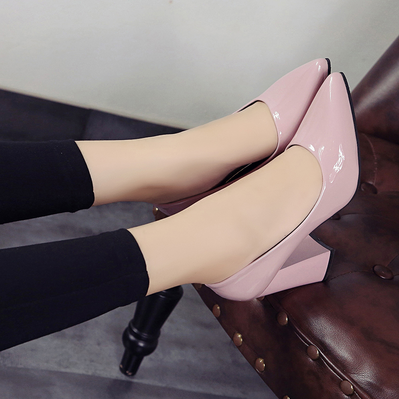 Women Pumps Brand Shoes High Heels lady Sexy Pointed Toe Zapatos Mujer Wedding Shoes OL dress patent leather shoes shallow point 2017 new spring summer shoes for women high heeled wedding pointed toe fashion women s pumps ladies zapatos mujer high heels 9cm