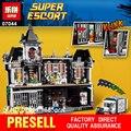 Lepin 07044 1685 unids super hero series el batman asilos establece niños educativos bloques de construcción ladrillos juguetes modelo 10937