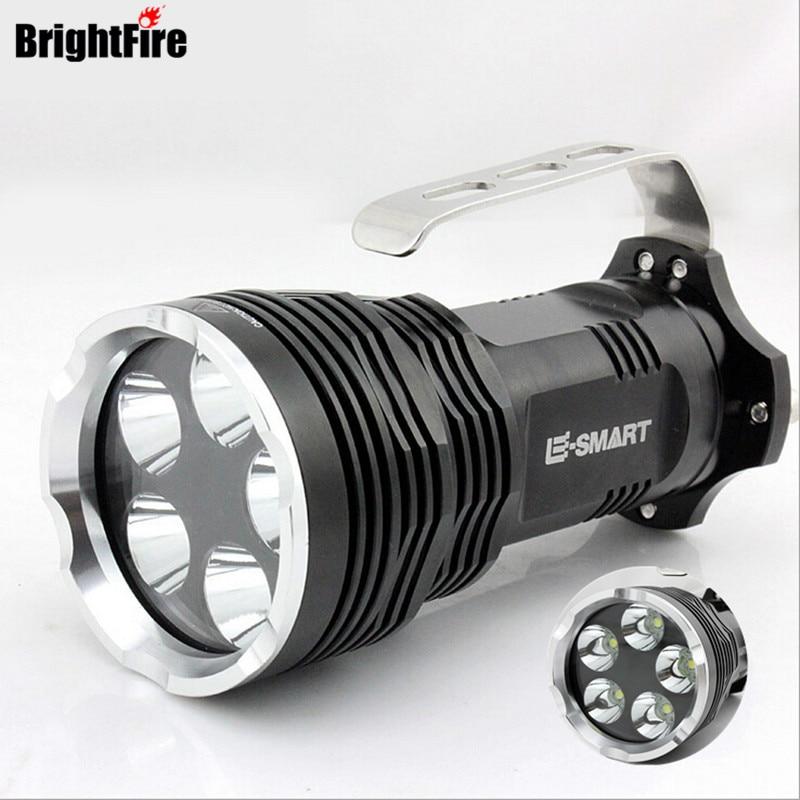 F41 5 XML-T6 the best Portable Lights LED Flashlight in the world Super strong Lumens lanterna lantern 5 modes 4 x 18650 battery