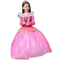Love Loew Princess Winter Sleeping Beauty Full Dress Ice And Snow Witch From Foreign Trade Girls Kids Clothing Mesh
