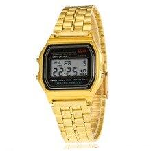 Классический Relogio Masculino из нержавеющей стали светодиодный для мужчин часы цифровой будильник Relogio Feminino секундомер женское платье часы