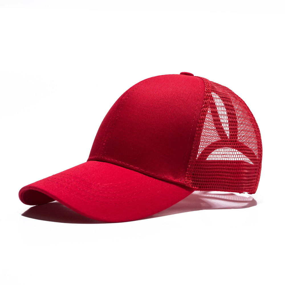 Apparel Accessories Cooperative High Quality Summer Hat For Women Ponytail Caps Messy Buns Trucker Plain Baseball Cap Fashion Snapback Sports Hat Gorras