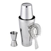 3pcs/set Cocktail Shaker Jigger Prong Bar Strainer Stainless Steel Mixer Drink Bartender browser Kit Bars Set Tools