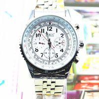 Jaragar 기계식 손목 시계 클래식 다기능 스틸 손목 시계 블랙 다이얼 6 손 손 바람 기계식 시계