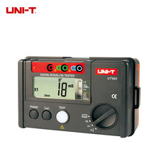 UNI-T UT582 Digital RCD (ELCB) Testers Data Hold Free Shipping AUTO RAMP Full Icon Display uni t ut39c ut 39c general digital multimeters 40c 1000c thermometer voltmeter ammeter multi testers manual data hold function