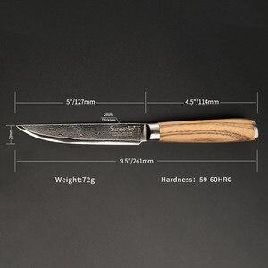 Image 2 - SUNNECKO 5 Utiltiy nóż 73 warstwy Damascus Steel japoński VG10 ostry nóż uniwersalne noże kuchenne oryginalny drewniany uchwyt