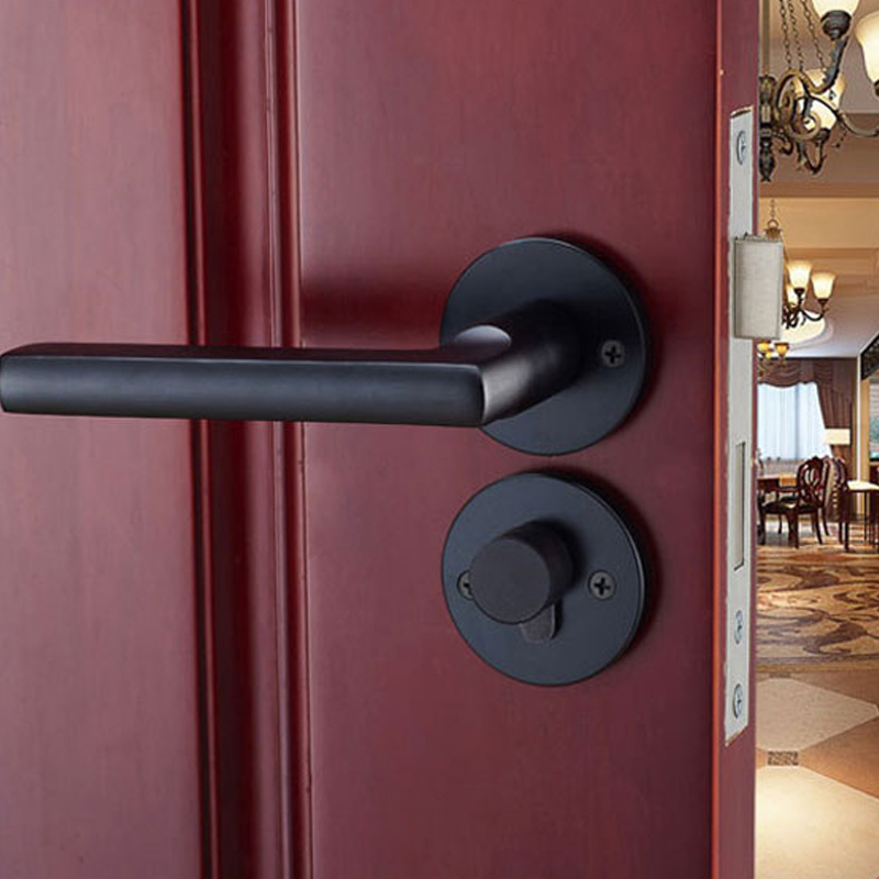 Buy black aluminum handle lock with keys - Bedroom door knobs with key lock ...