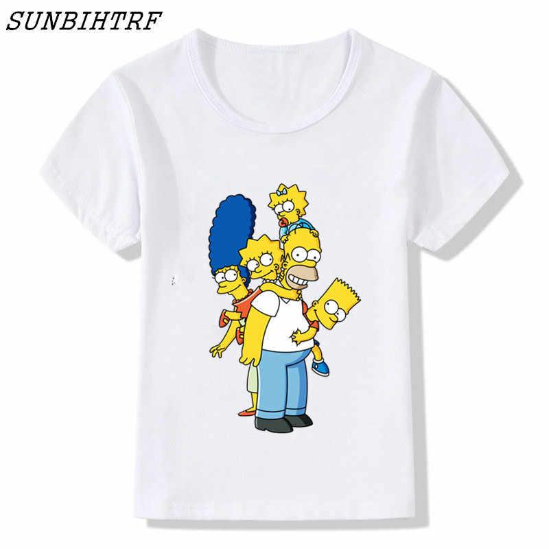 c11574d111f80 2018 Funny Cute Donut Simpson Design Printed T Shirt Boys/Girls Cool Tee  Tops Summer Novelty Short Sleeve Kids Brand Tee Shirts