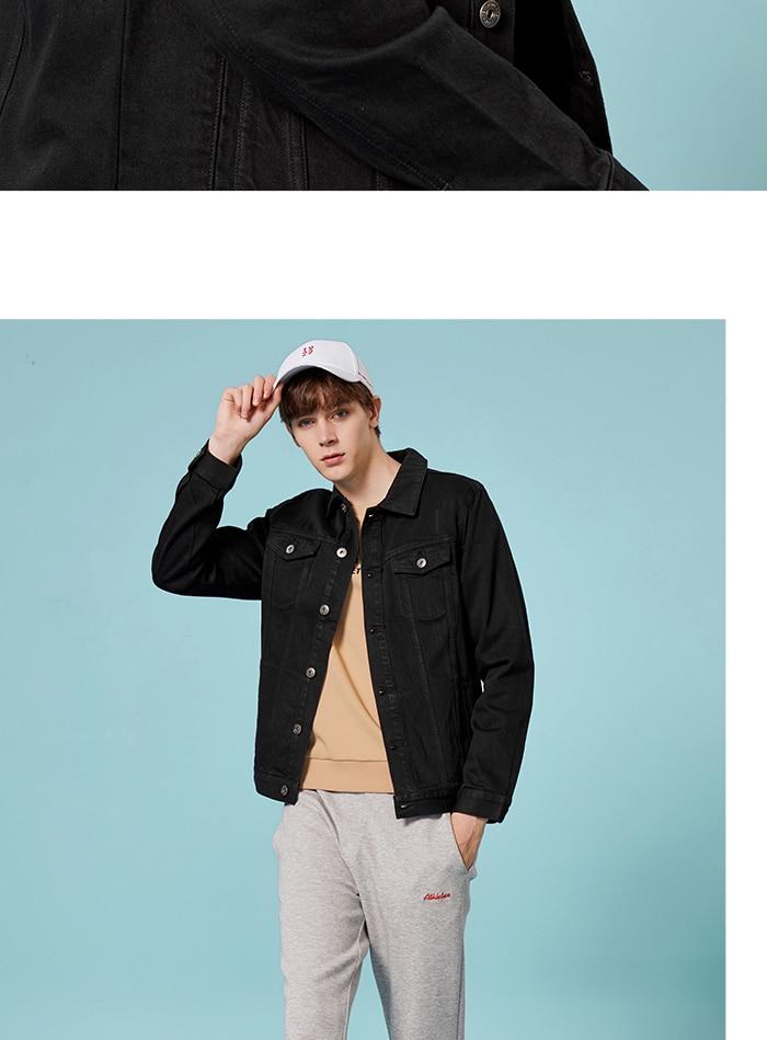 HTB1QT1naGSs3KVjSZPiq6AsiVXaP SEMIR Men Denim Jacket Men Washed Denim Jacket Classic Denim Jacket with Collar for Men Casual Fashion Spring Autumn Clothes