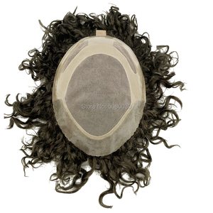Image 3 - Human Hair Mens Hair Piece Toupee Replacement System Remy Hair Mono lace and Poly Bond