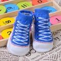 Мода Стиль Холст Обувь Детские Носки Хлопок Мягкий Утолщение Новорожденного Носки Осень-Зима Теплые Детские Носки