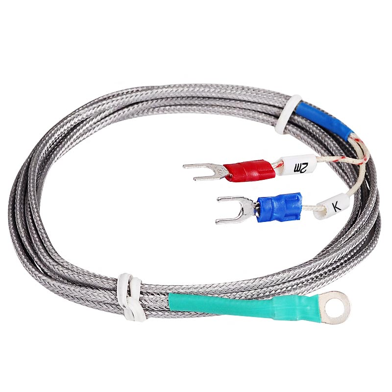 5mm Hole Washer Gasket Type Probe Thermocouple K Temperature Sensor 2M Cable for Industrial Temperature Controller