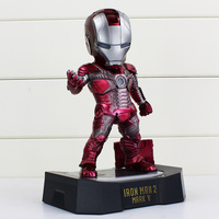 21cm Iron Man Egg Attack Action Figure Iron Man 2 Mark 5 American Superhero Model Toys Iron Man Collectible Figurines