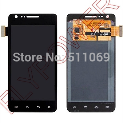 For Samsung Galaxy SII I777 LCD Screen Display with Touch Screen Digitizer Assembly by free shipping; Black color; 100% warranty cactus cs tk350