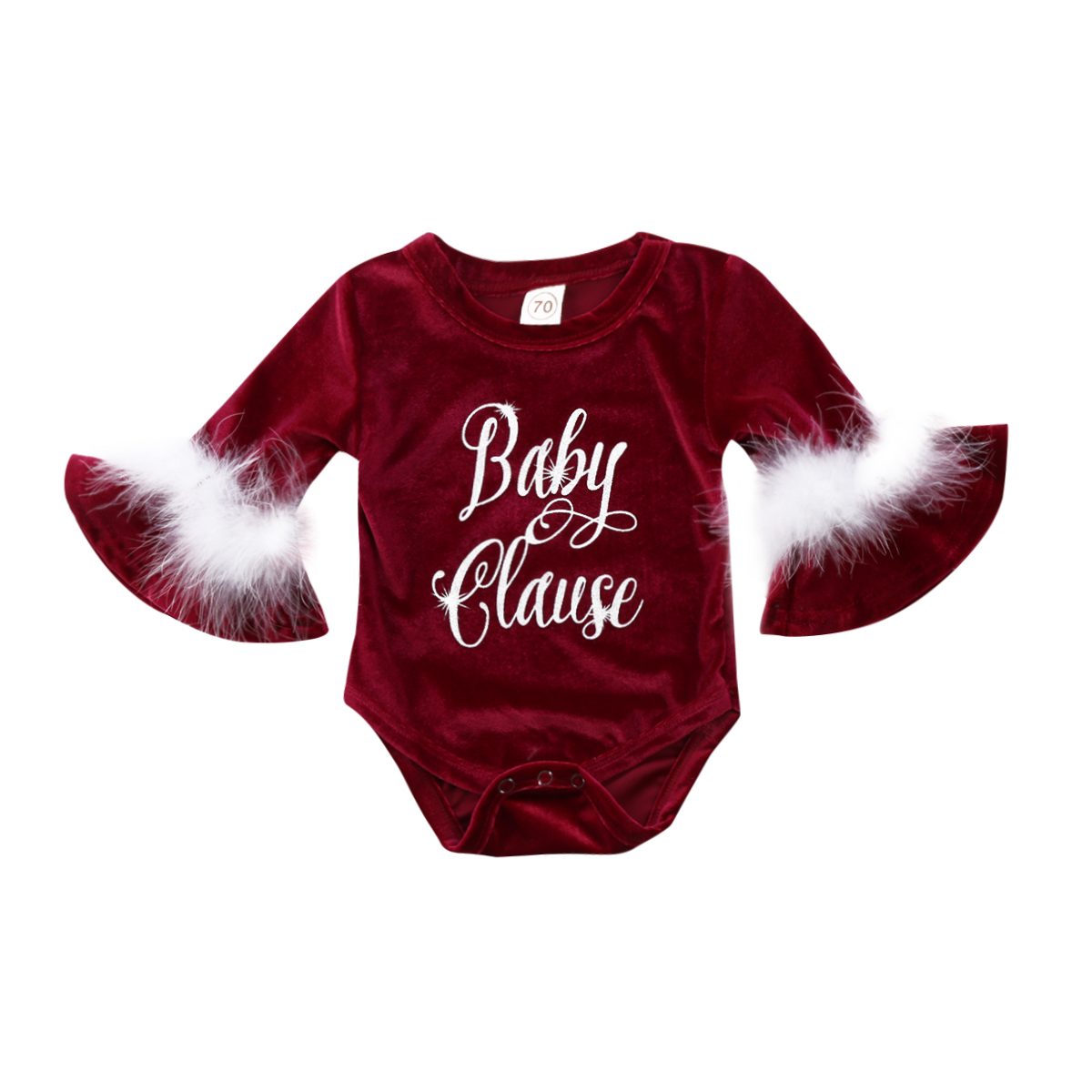 Baby Rompers Cute Santa Baby Claus Kids Girls Fur Romper Long Sleeve Jumpasuit Outfits Party One-pieces Baby Clothing Christmas retail kids christmas clothing set santa claus costume for baby xmas party clothes romper hat 2 pcs sets baby wear ds19