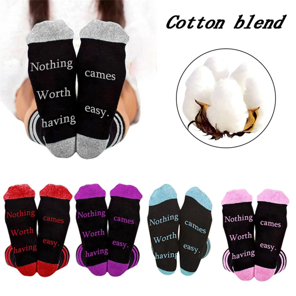 Fashionable Personalized Casual English Letter Print Socks Knee-High Socks For Men And Women