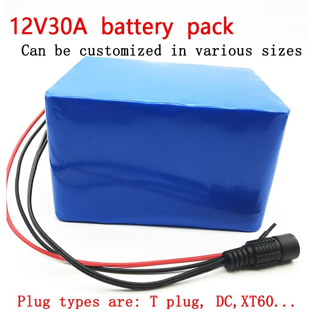 AERDU 3S12P 12V 30Ah 30000mAh 12.6V Li-ion Battery Pack with 60A BMS For Flashlight lighting device backup power mobile powerAERDU 3S12P 12V 30Ah 30000mAh 12.6V Li-ion Battery Pack with 60A BMS For Flashlight lighting device backup power mobile power