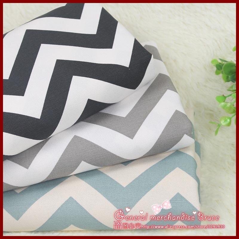 ∞Patrón de onda tela natural de algodón de lino Telas patchwork ...