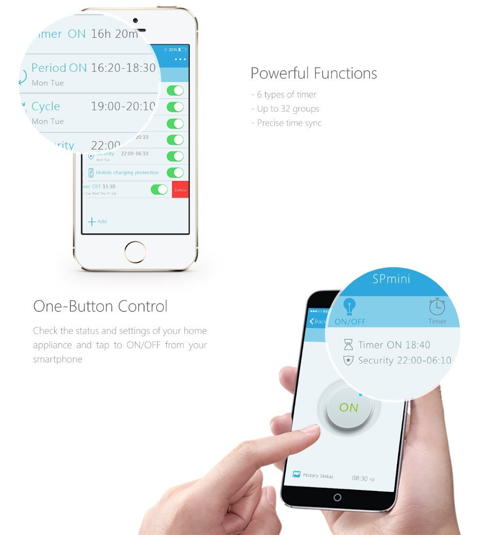 10---Broadlink SP Mini Wifi Smart Socket Remote Control by Phone Wireless Power Plug timer+extender time Home Automation System-